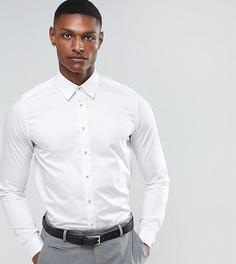 Атласная эластичная узкая рубашка Ted Baker TALL - Белый