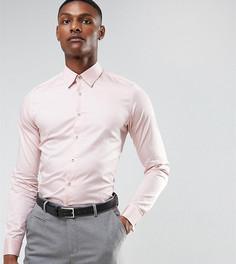 Атласная эластичная узкая рубашка Ted Baker TALL - Розовый