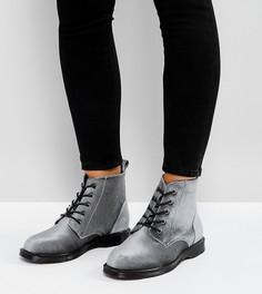 Ботильоны для широкой стопы на шнуровке Truffle Collection - Серый