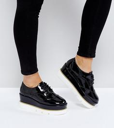 Туфли на платформе для широкой стопы со шнуровкой ASOS OUTSHINE - Черный