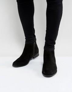 Черные замшевые ботинки челси Ben Sherman - Черный