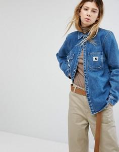 Свободная джинсовая рубашка с карманами на груди Carhartt WIP - Синий