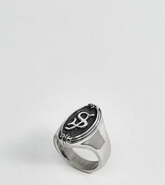 Кольцо с буквой S в готическом стиле Regal Rose - Серебряный