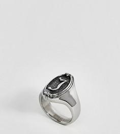 Кольцо с буквой J в готическом стиле Regal Rose - Серебряный