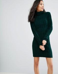 Платье-водолазка Brave Soul Perrie - Зеленый