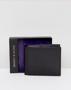 Бумажник с контрастной внутренней частью с анималистическим принтом Smith And Canova - Черный