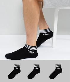 3 пары черных носков adidas Originals AZ5523 - Черный