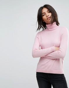 Легкий трикотажный джемпер с воротником поло Esprit - Розовый
