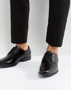 Черные туфли дерби из искусственной кожи ASOS - Черный