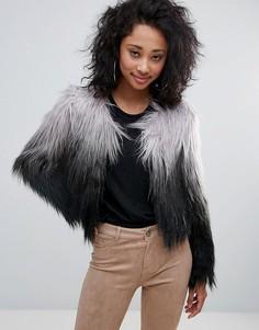 Куртка из искусственного меха с эффектом омбре Urban Bliss - Серый