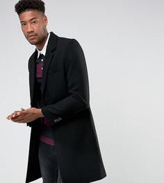 Черное пальто из шерстяной смеси ASOS TALL - Черный