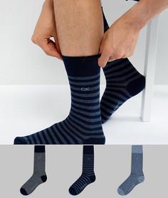 Подарочный набор с 3 парами носков в полоску Calvin Klein - Мульти