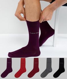 Подарочный набор с 5 парами носков Calvin Klein - Мульти