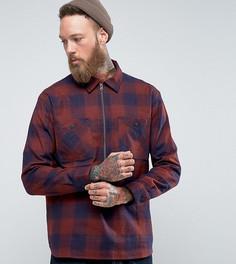 Рубашка в клетку на молнии Edwin Jesse - Красный