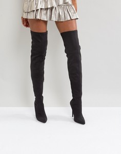 Сапоги-ботфорты на каблуке Truffle Collection - Черный