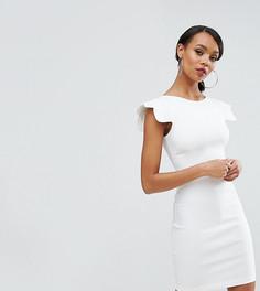 Платье-футляр с фигурными рукавами Vesper - Белый