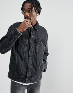Джинсовая куртка из переработанных материалов Cheap Monday - Черный