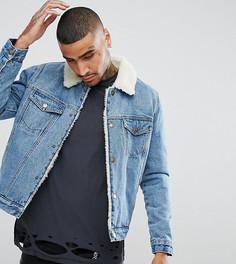 Выбеленная джинсовая куртка Rollas - Синий Rollas