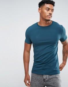 Облегающая футболка с круглым вырезом ASOS - Зеленый