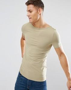 Обтягивающая футболка ASOS - Зеленый