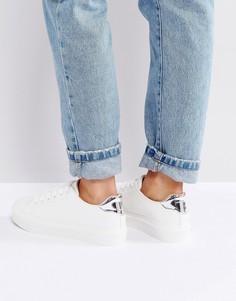 Белые кроссовки с накладкой на носке Blink - Белый