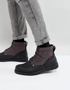 Черные кожаные ботинки Levis Jax - Черный Levis®