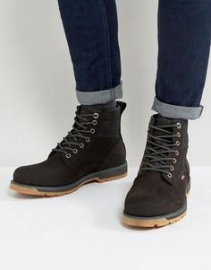 Черные кожаные ботинки с джинсовой отделкой Levis Logan - Черный Levis®