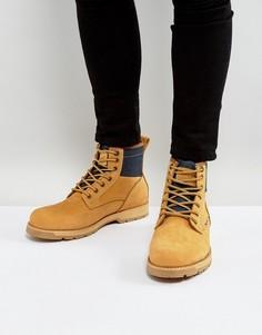 Светло-коричневые кожаные ботинки с джинсовой отделкой Levis Logan - Светло-серый Levis®