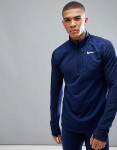Синий свитшот на молнии 1/4 Nike Running Therma Spehere Element 857829-429 - Синий