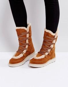Светло-коричневые ботинки с искусственным мехом Timberland Kenniston Muk Tall - Рыжий