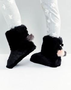 Слиперы-ботинки из искусственного меха Ted Baker Hamond - Черный