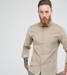 Приталенная вельветовая рубашка Heart & Dagger - Бежевый