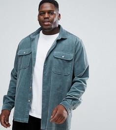 Сине-зеленая вельветовая рубашка ASOS - Зеленый