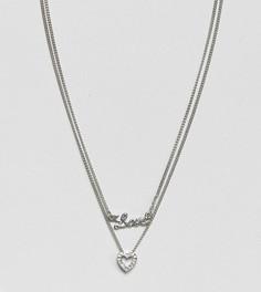 Ожерелье в несколько рядов с подвеской Reclaimed Vintage Inspired - Серебряный