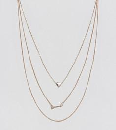 Ожерелье в несколько рядов с подвеской Reclaimed Vintage Inspired - Золотой