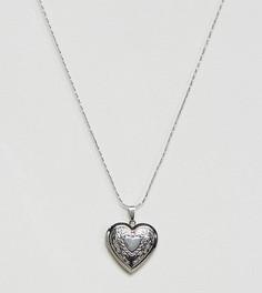 Ожерелье с медальоном Reclaimed Vintage Inspired - Серебряный