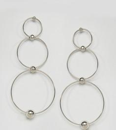 Броские серебристые серьги-кольца Reclaimed Vintage Inspired - Серебряный