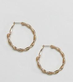 Крученые серьги-кольца Reclaimed Vintage Inspired - Золотой
