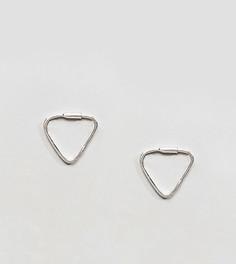 Серебряные серьги треугольной формы Reclaimed Vintage Inspired - Серебряный