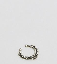 Серебряное кольцо для носа Reclaimed Vintage Inspired - Серебряный