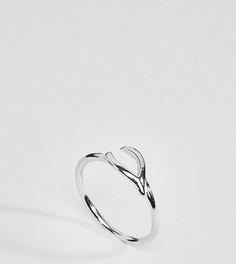 Серебряное кольцо с дизайном в виде куриной косточки Reclaimed Vintage Inspired - Серебряный