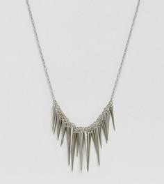 Ожерелье с шипами Reclaimed Vintage Inspired - Серебряный