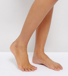 Браслет-цепочка на ногу Reclaimed Vintage Inspired - Золотой