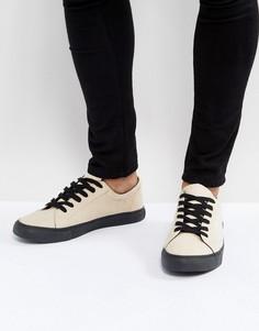 Песочные кроссовки с контрастной подошвой ASOS - Светло-серый