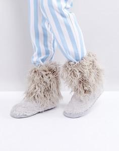 Ботинки с отделкой искусственным мехом Bedroom Athletics - Серый