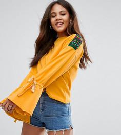 Свитшот с вышивкой ASOS TALL - Желтый