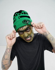 Шапка-бини с монстром ASOS Halloween - Зеленый