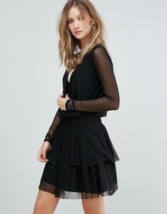 Однотонное сетчатое платье Gestuz Mesha - Черный