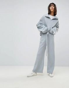 Широкие флисовые брюки от комплекта House Of Sunny - Серый