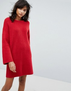 Вязаное оверсайз-платье мини ASOS - Оранжевый